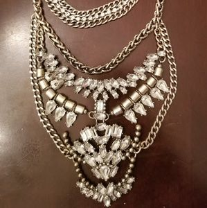 Baublebar Silver Chain Statement Necklace